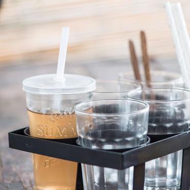 Ib laursen Glas Summer mit Deckel und Strohhalm, 230 ml