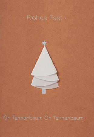 Räder Weihnachtsbäumchen Karte  Frohes Fest