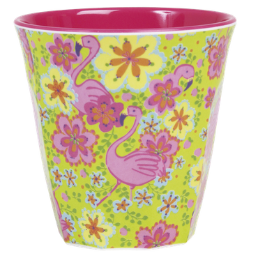 Rice Melamin Becher, 2farbig, Flamingo