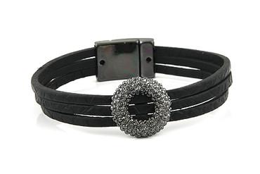 Lizas Armband, schwarz/gun metal