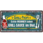 Andrea Verlag Metallschild Grill Profi
