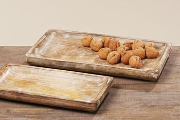 Boltze Deko-Tablett Bornholm Mango braun (Bild hinten)