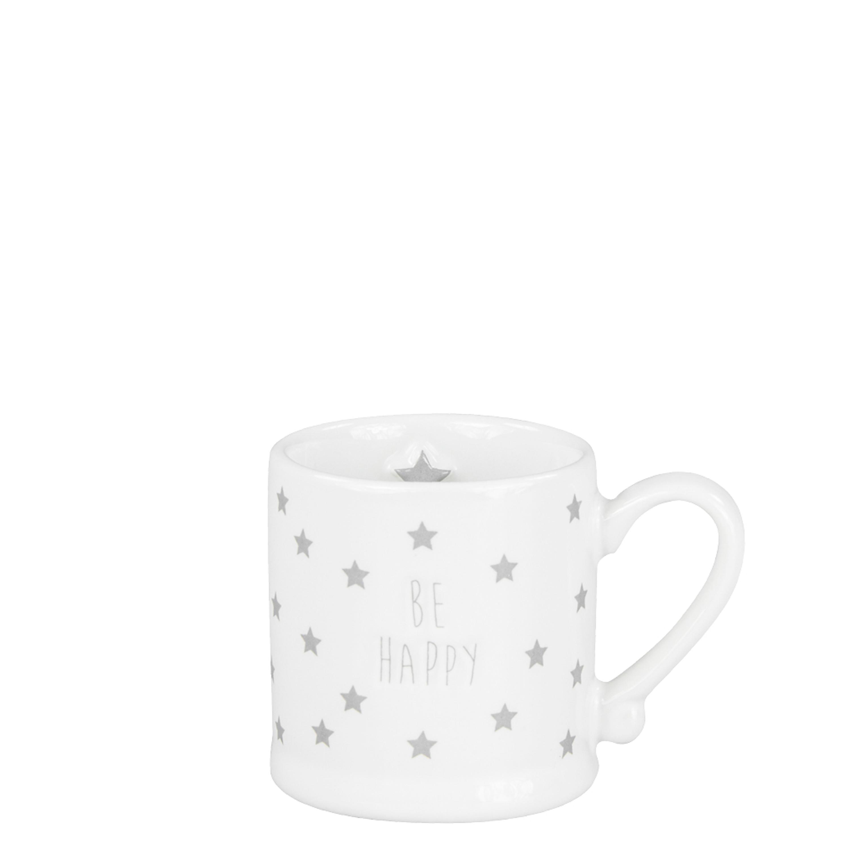 Bastion collections espresso tasse be happy graue sterne tisch k che becher tassen - Weihnachtskugeln cappuccino ...