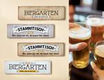 Gilde Metallschild  Biergarten , weiß (Bild unten)