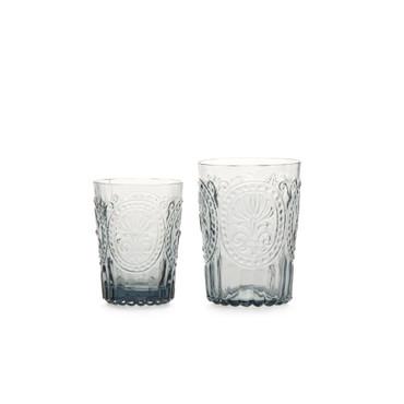 Van Verre Trinkglas Fleur de Lys, grau, L (Bild rechts)