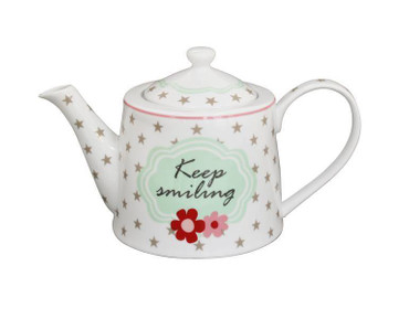 Krasilnikoff Happy Teapot Keep smiling