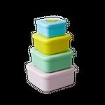 Rice Frühstücksboxen, Fruit Print, 4er Set