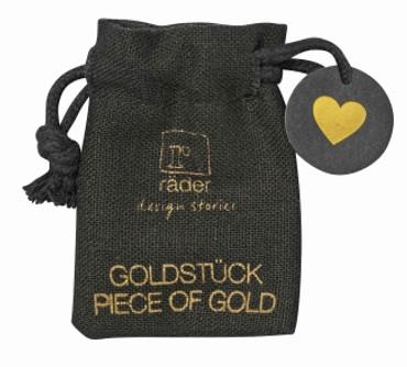 Räder SILVESTER Goldstück Herz