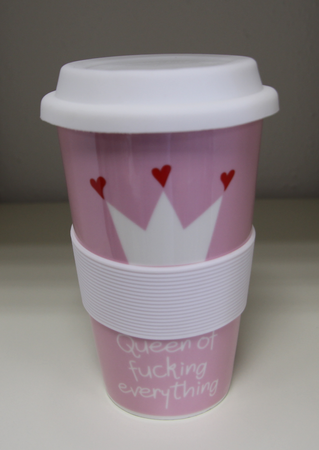 Mea Living Coffee to go Becher  Queen of fucking everthing