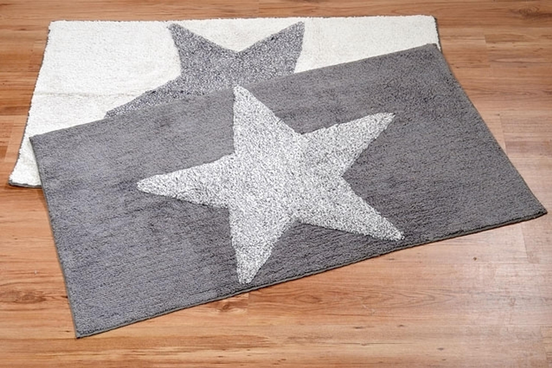 teppich wei oder grau mit stern wohnen teppiche l ufer matten. Black Bedroom Furniture Sets. Home Design Ideas
