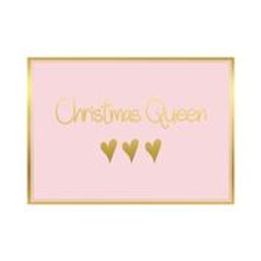 Mea Living Postkarte  Christmas Queen , Herzen