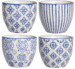 IB Laursen Eierbecher, Casablanca, blau, 4er Set