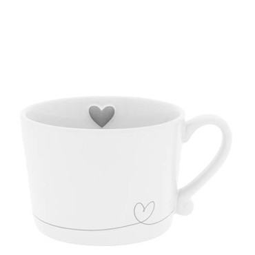 Bastion Collections Tasse line Heart in Grey