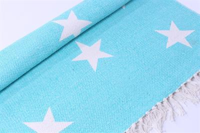 lafinesse teppich blau mit wei en sternen wohnen teppiche l ufer matten. Black Bedroom Furniture Sets. Home Design Ideas