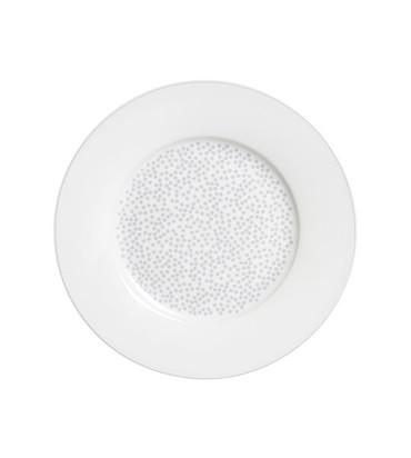 Krasilnikoff Dessert Teller, graue Punkte