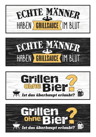 Gilde Metall Magnet  Grillen ohne Bier?...  (3. Bild von oben)