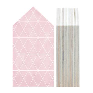 Dots Lifestyle Pattern Triangle pink, gray,