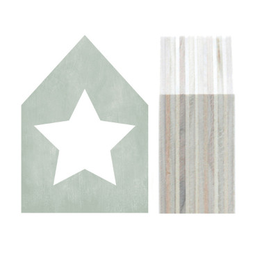 Dots Lifestyle Holzhaus Star gray, pink, dark blue