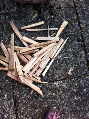 Buchenholz zum Heringe räuchern