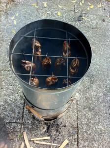 Forelle räuchern, Forellen räuchern