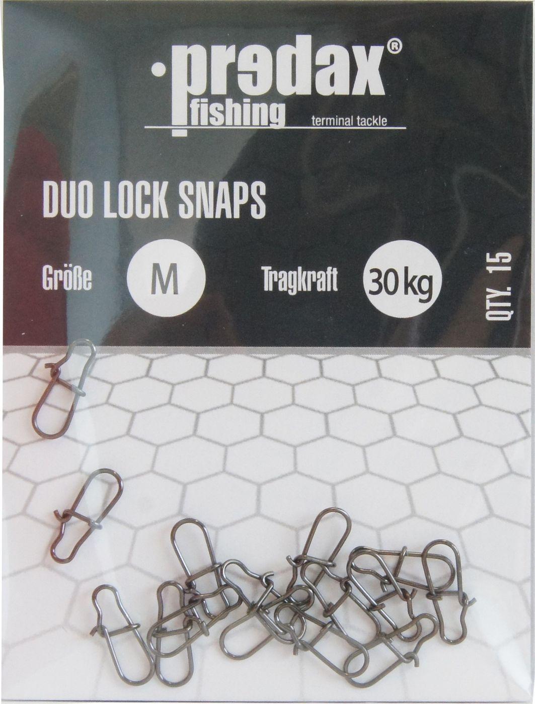 15 Stück Predax Duo Lock Snaps