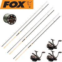 Fox Karpfenset - 3 Fox Ruten 12ft 2,75lbs Cork + 3 Rollen + Schnur