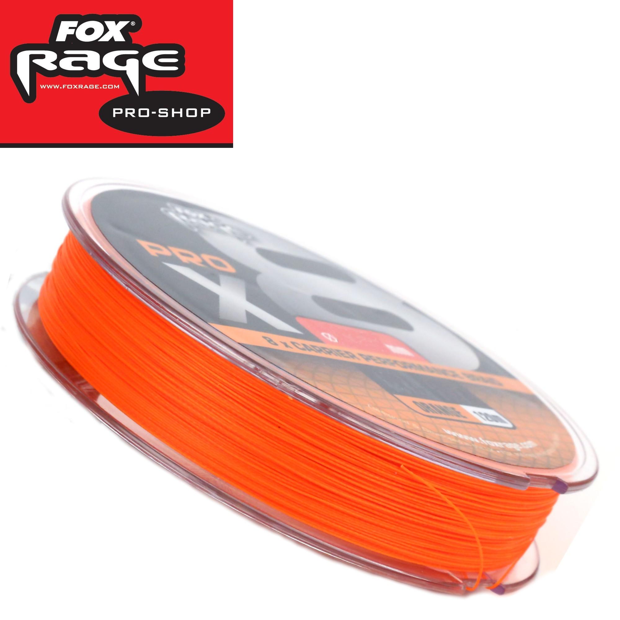fox rage pro x8 120m orange geflochtene angelschnur. Black Bedroom Furniture Sets. Home Design Ideas