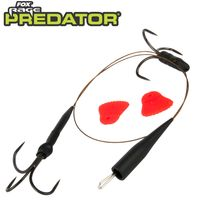 Fox Predator Quick Change Paternoster Trace Barbless - 32cm Vorfach