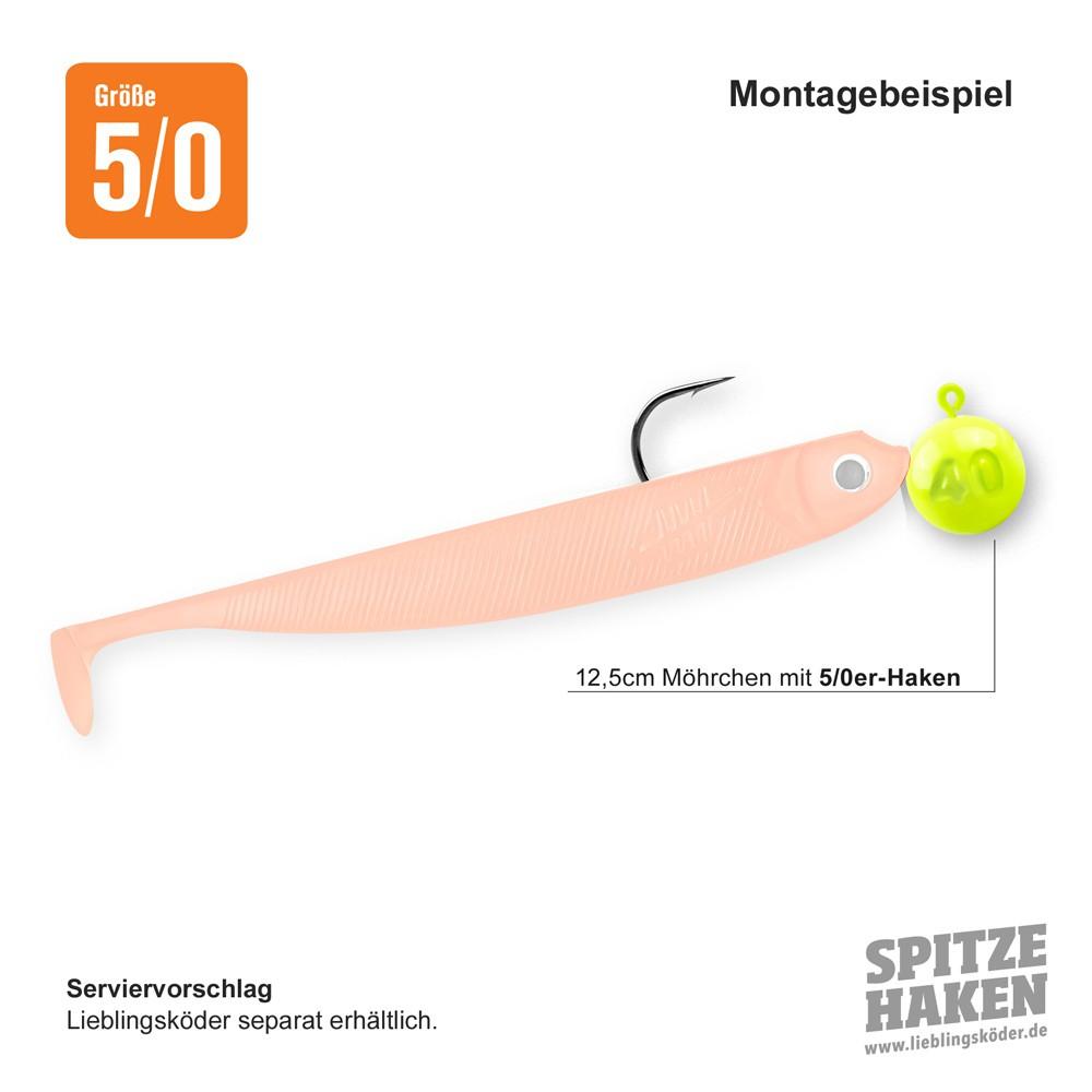 """Neo /""""12,5cm/"""" Neo Jigkopf Haken Set /"""" Dorschbomben/"""" Lieblingsköder Möhrchen"""