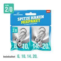 Lieblingsköder Spitze Haken 2/0 Mixpaket - 4 Jighaken