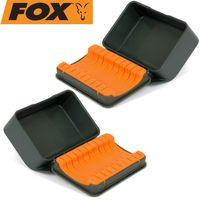 Fox F box hook storage case L - 2 Kleinteilboxen für Karpfenhaken