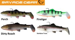4 Savage Gear 3D Trout Rattle Shad 20,5cm