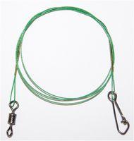 Behr Stahlvorfach grün 7kg 50cm mit Wirbel - nylonummantelt 1x7