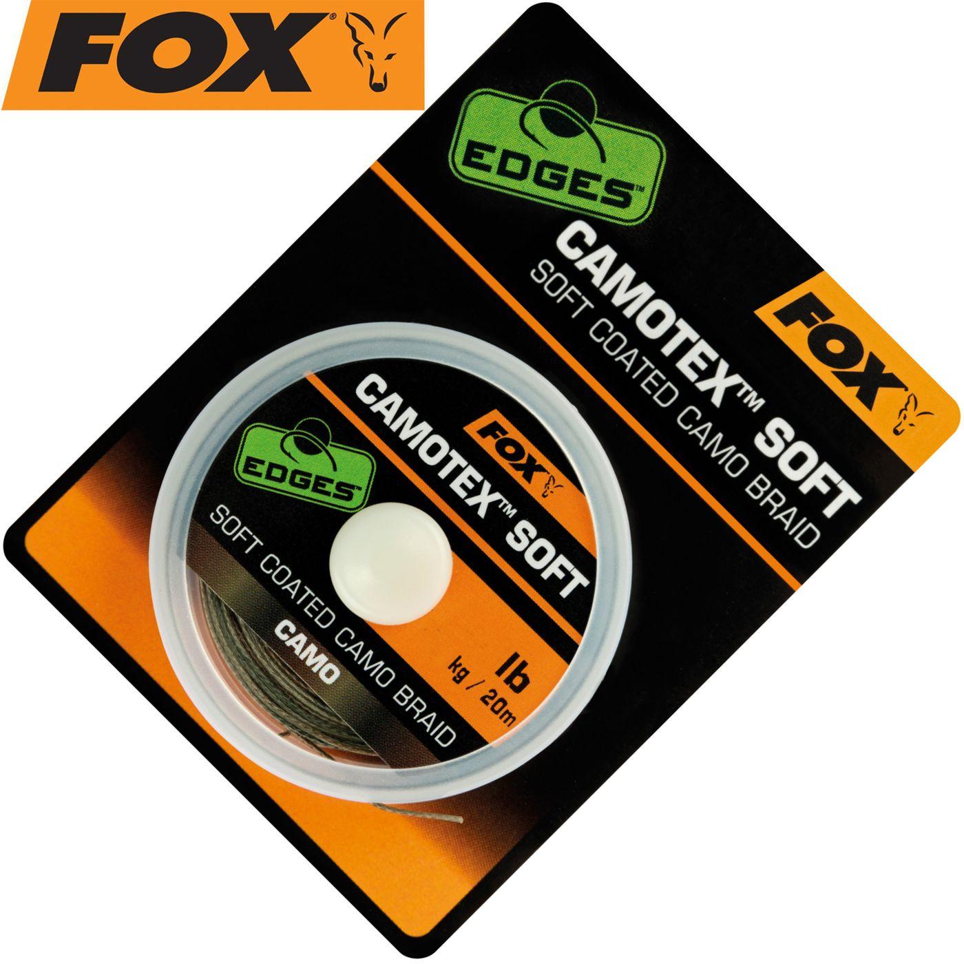 Fox Armadillo Karpfen Vorfachschnur Rig Braid 45lb Dark//Light Camo 20m 45lb