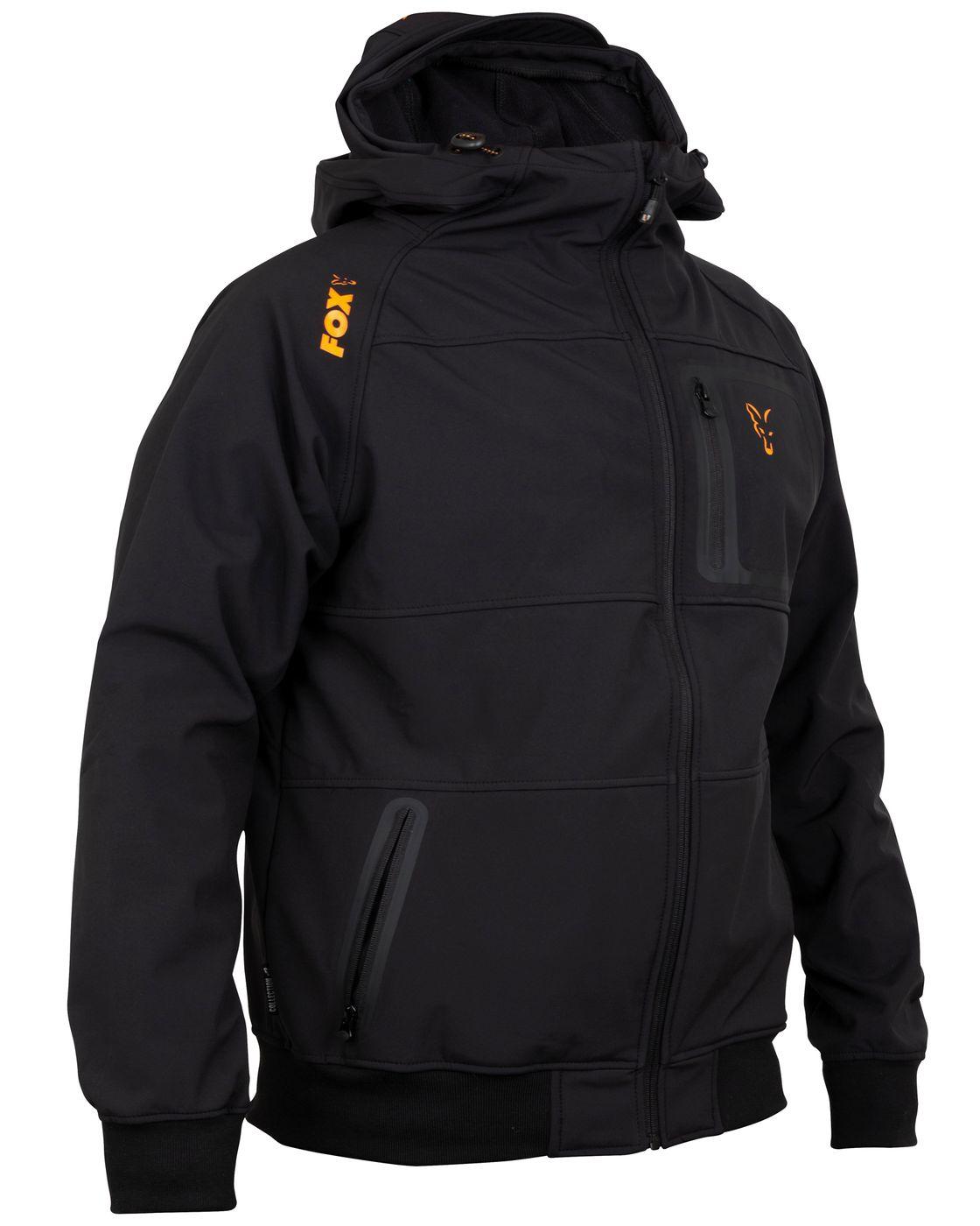 Fox Black Orange Softshell Hoodie alle Größen zur Auswahl Hoody Carp-Shop