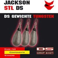 4 Jackson Drop Shot Bleie Tear Drop Tungsten 7g