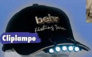 Behr Cliplampe Lampe 5 LED Kopflampe für Cap Mütze