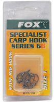 Fox Karpfen Haken Stiff Rig Hook Gr. 1b für Boilies