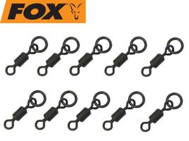 Fox Flexi Ring Swivels Gr. 10 - 10 Karpfenwirbel mit Ring