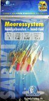 Behr Heringssystem Heringsvorfach mit Glitterfliegen 5 Haken Gr. 1