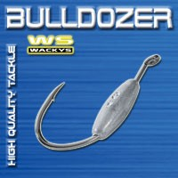 2 Bulldozer WACKYS Haken Wallerhaken Gr. 10/0 60g