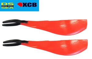 XCB Drop Shot V Fat 21cm - 2 Dropshot Köder japanrot