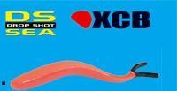 2 XCB Drop Shot V Slim 27cm Dropshot Köder Japanrot