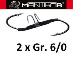 2 Mantikor Wallerhaken Mario Z-Hook Welshaken Gr.6/0