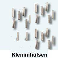 20 Klemmhülsen 0,8mm Klemmhülse Quetschhülsen Raubfischangeln