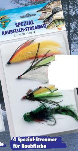 4 Raubfischstreamer Streamer Hechtfliegen Fliegen
