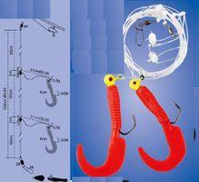 Dorschsystem Dieter Eisele Pilkvorfach 2 Jigs rot 7g Beifänger Pilksystem