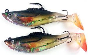 2 Behr Gummifische Weißfisch Design 34g 12cm lang