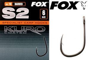 Fox Karpfenhaken S2 Kuro Hook (Gr. 2 - 10)