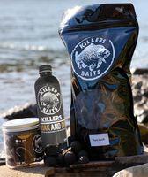 Carp Killers Black Hash 5kg Boilies + 100g Pop Ups 20mm + 250ml Dip